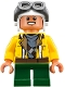 Minifig No: sw0753  Name: Rowan - Yellow Jacket, Aviator Cap and Goggles