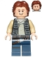 Minifig No: sw0771  Name: Han Solo, Dark Blue Legs, Vest with Pockets, Wavy Hair