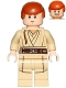 Minifig No: sw0812  Name: Obi-Wan Kenobi (Young, Printed Legs, without Cape)
