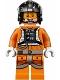 Minifig No: sw0826  Name: Snowspeeder Pilot Zev Senesca - Pearl Dark Gray Helmet
