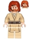 Minifig No: sw0846  Name: Obi-Wan Kenobi - Mid-Length Tousled with Center Part Hair and Headset