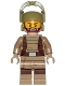 Minifig No: sw0867  Name: Resistance Trooper - Dark Tan Hoodie Jacket, Harness, Beard, Helmet with Chin Guard