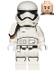 Minifig No: sw0872  Name: First Order Stormtrooper Squad Leader (Rounded Mouth Pattern)
