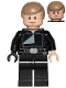 Minifig No: sw0880  Name: Luke Skywalker (Jedi Master, Endor, Dark Tan Hair, Stern / Smile)