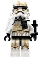 Lot ID: 195592458  Minifig No: sw0894  Name: Sandtrooper (Sergeant) - White Pauldron, Ammo Pouch, Dirt Stains, Survival Backpack