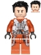 Minifig No: sw0931  Name: Poe Dameron (Pilot Jumpsuit, Hair Swept Left Tousled)