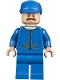 Minifig No: sw0975  Name: Bespin Guard - Light Flesh Head, Detailed Gold Trim, Moustache