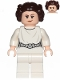 Minifig No: sw0994  Name: Princess Leia (White Dress, Detailed Belt, Crooked Smile)