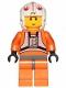 Minifig No: sw1024  Name: Luke Skywalker (Pilot, 20th Anniversary Torso)