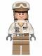 Minifig No: sw1026  Name: Hoth Rebel Trooper White Uniform, Dark Tan Legs, Backpack (Cheek Lines)
