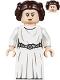 Minifig No: sw1036  Name: Princess Leia (White Dress, Detailed Belt, Skirt Part)