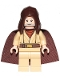 Minifig No: sw1046  Name: Obi-Wan Kenobi (Old, Standard Cape, Hood Basic)