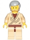 Minifig No: sw1069  Name: Obi-Wan Kenobi (Old with Light Bluish Gray Hair - 20th Anniversary Torso)