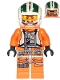 Minifig No: sw1081  Name: Wedge Antilles - Printed Legs, Three Bullets