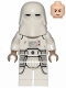 Minifig No: sw1102  Name: Snowtrooper, Printed Legs, Dark Tan Hands, Frown