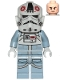 Minifig No: sw1104  Name: AT-AT Driver - Dark Red Imperial Logo, Cheek Lines, Frown