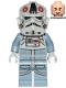 Minifig No: sw1105  Name: AT-AT Driver - Dark Red Imperial Logo, Cheek Lines, Smile
