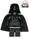 Minifig No: sw1106  Name: Darth Vader (Printed Arms, Spongy Cape)