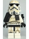 Minifig No: sw1131  Name: Sandtrooper (Enlisted) - Black Pauldron, Ammo Pouch, Dirt Stains, Survival Backpack, Frown (Dual Molded Helmet)