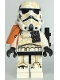 Minifig No: sw1132  Name: Sandtrooper Squad Leader/Captain - Orange Pauldron, Ammo Pouch, Dirt Stains, Survival Backpack, Frown (Dual Molded Helmet)