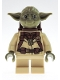 Minifig No: sw1147  Name: Yoda (Olive Green, Backpack Pattern)