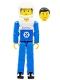 Minifig No: tech005a  Name: Technic Figure Blue Legs, White Top with Blue Technic Logo, Blue Arms, White Helmet