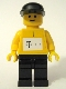 Minifig No: tel005s  Name: German Telekom Racing Cyclist Yellow - with Torso Stickers