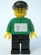 Minifig No: tel006s  Name: German Telekom Racing Cyclist Green - with Torso Stickers