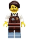 Minifig No: tlm010  Name: Larry the Barista - Minifigure only Entry
