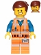 Minifig No: tlm066  Name: Emmet - Wide Smile, without Piece of Resistance