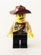 Minifig No: tlm068  Name: Johnny Thunder (The Lego Movie - Dark Brown Straps, White Pupils)