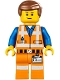 Minifig No: tlm087  Name: Emmet - Lopsided Closed Mouth Smile, without Piece of Resistance