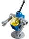 Minifig No: tlm089  Name: Classic Space Droid - Light Bluish Gray and Blue with Trans-Yellow Eye (Benny's Droid)
