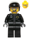 Minifig No: tlm098  Name: Bad Cop - Head with Crooked Smile