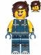 Minifig No: tlm144  Name: Rex Dangervest - Smile, Open Mouth, Tongue / Angry