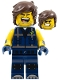 Minifig No: tlm181  Name: Rex Dangervest - Eyes Closed / Large Lopsided Grin with Teeth