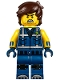 Minifig No: tlm197  Name: Rex Dangervest - Crooked Smile / Angry