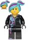 Minifig No: tlm201  Name: Lucy Wyldstyle with Magenta Lined Hoodie, Medium Azure and Magenta Hair, Smile / Cheerful