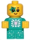 Minifig No: tlm203  Name: Sparkle Baby - Dark Turquoise Star Around Eye