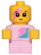 Minifig No: tlm204  Name: Sparkle Baby - Dark Pink Lightning Around Eye