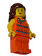 Minifig No: tls026  Name: Lego Brand Store Female, Orange Halter Top - Mission Viejo
