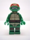Minifig No: tnt008  Name: Raphael, Gritted Teeth, Looking Up