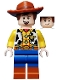 Minifig No: toy016  Name: Woody - Normal Legs, Minifigure Head, Open Mouth Smile