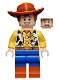 Minifig No: toy025  Name: Woody - Normal Legs, Minifigure Head, Smile with Teeth / Scared