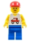 Minifig No: trc003  Name: Trucker - Blue Legs, Red Cap