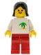 Minifig No: twn039  Name: Palm Tree - Red Legs, Black Female Hair