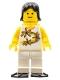 Minifig No: twn061  Name: Yellow Flowers - Black Female Hair, Yellow Airtanks, Black Flippers