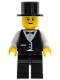 Minifig No: twn067  Name: Town Vest Formal - Top Hat