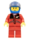 Minifig No: twn163  Name: Red Jacket with Zipper Pockets and Classic Space Logo, Red Legs, Blue Helmet