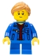 Minifig No: twn254  Name: Girl, Denim Jacket, Blue Short Legs